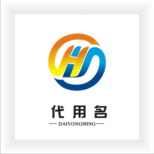 字母hy logo设计