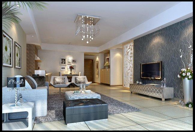简约风格客厅设计效果图