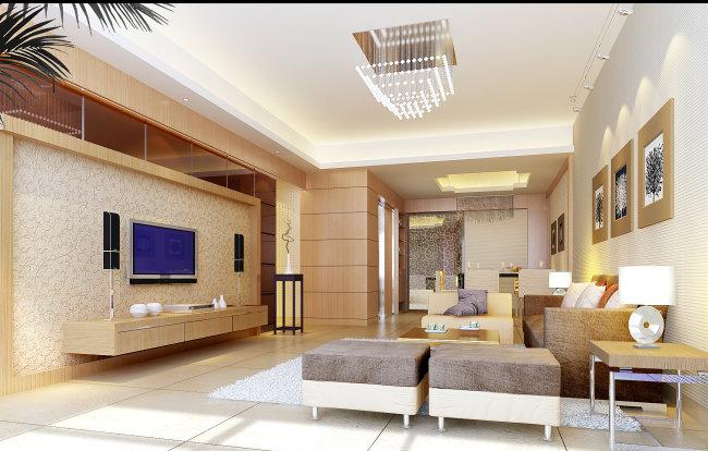 欧式客厅设计效果图图片