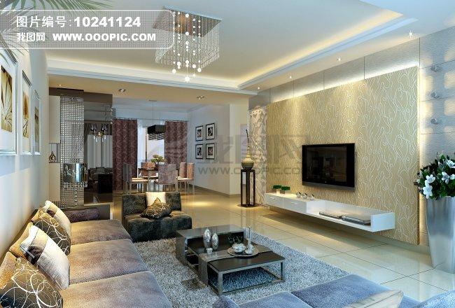 白色欧式风格室内设计效果图