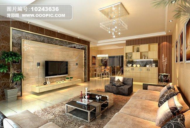 欧式豪华客厅设计效果图图片