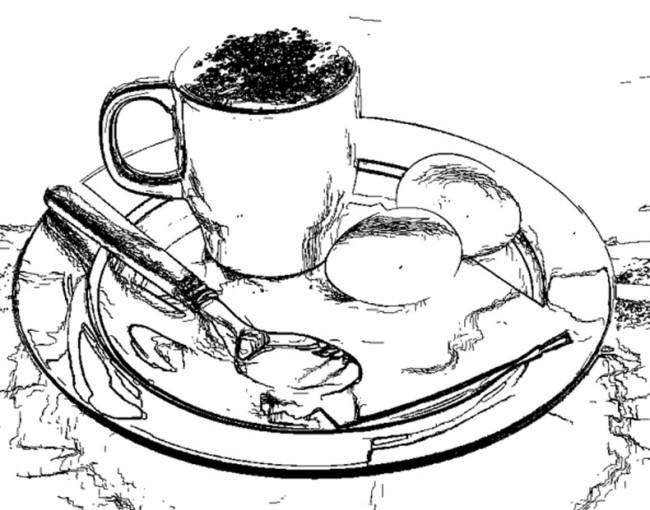 卡通早餐手绘图