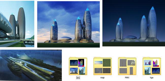 建筑效果图 建筑效果图全套资料 规划 城市规划 场馆效果图 商业街