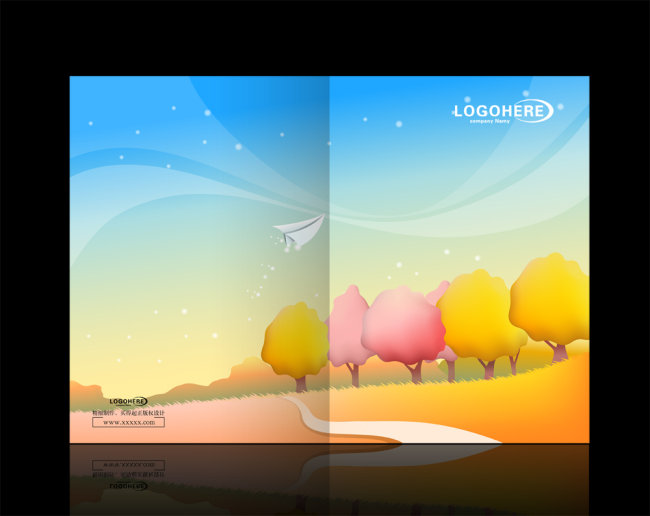 卡通风景画册模板下载(图片编号:10257391)