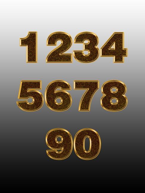 黄金立体数字7模板下载 10258861 艺术字 卡通