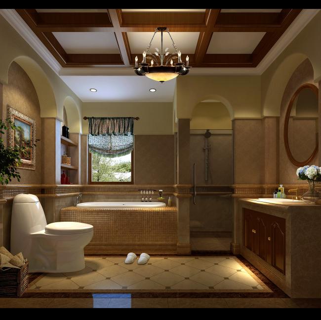 欧式卫生间效果图图片下载