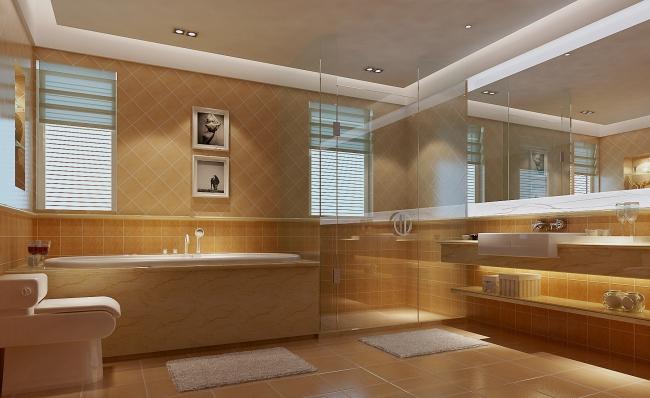 豪华卫生间效果图模板下载 豪华卫生间效果图图片下载 墙体造型 顶棚