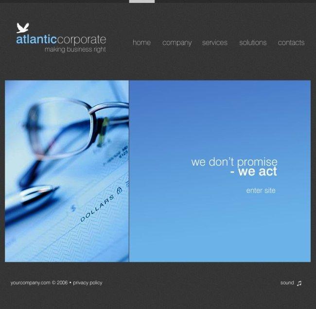 大气flash企业网站设计图片