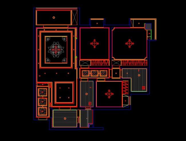 室内标准间施工图