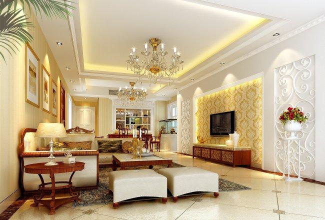 欧式迪拜贵族风格客厅设计图片