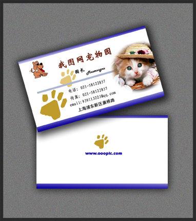 宠物店名片图片下载 名片 名片素材 名片设计模板psd 个性名片 宠物