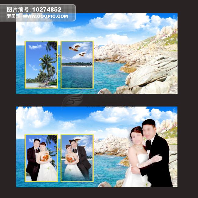 婚纱 模板/2011年新款海景婚纱模板