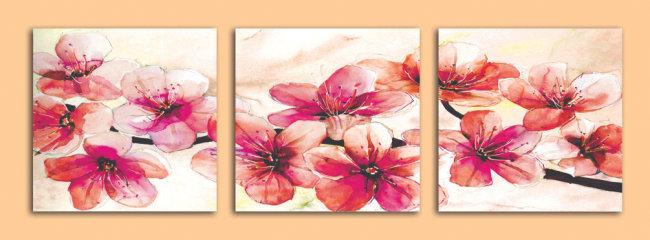桃花图片手绘 水彩画