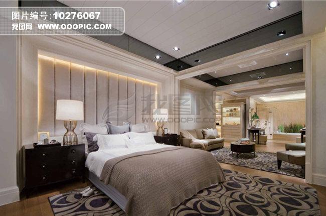 别墅卧室效果图模板下载 别墅卧室效果图图片下载 灯光设计 颜色搭配
