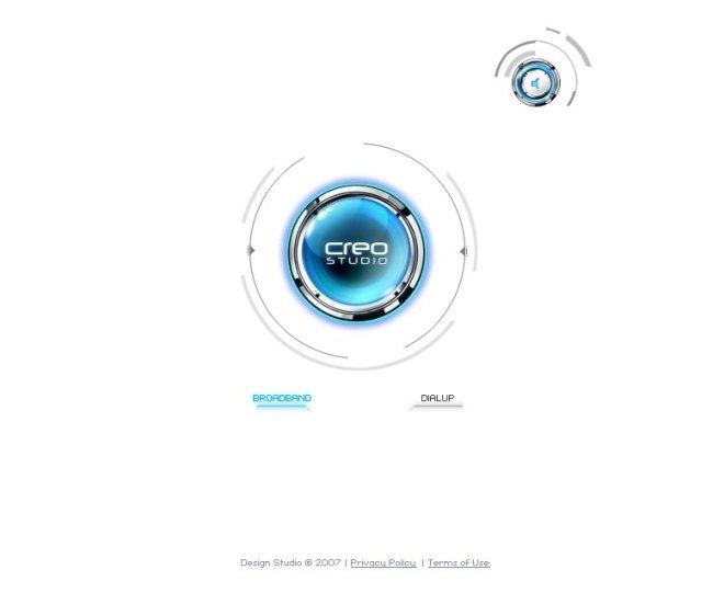 3d炫酷白色科技网站flash版图片
