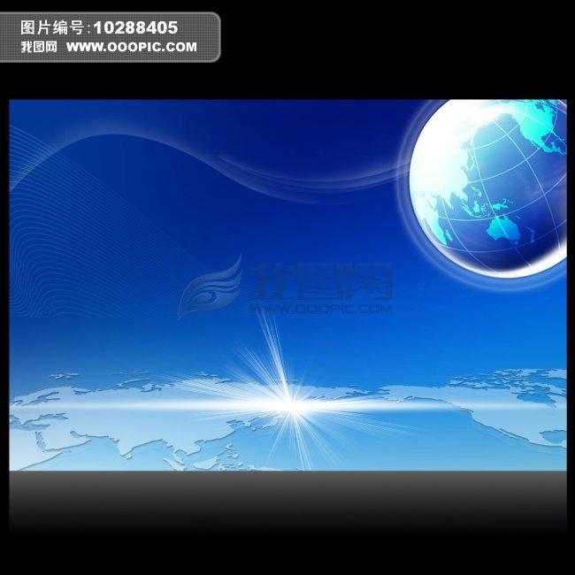 蓝色科技背景图片下载