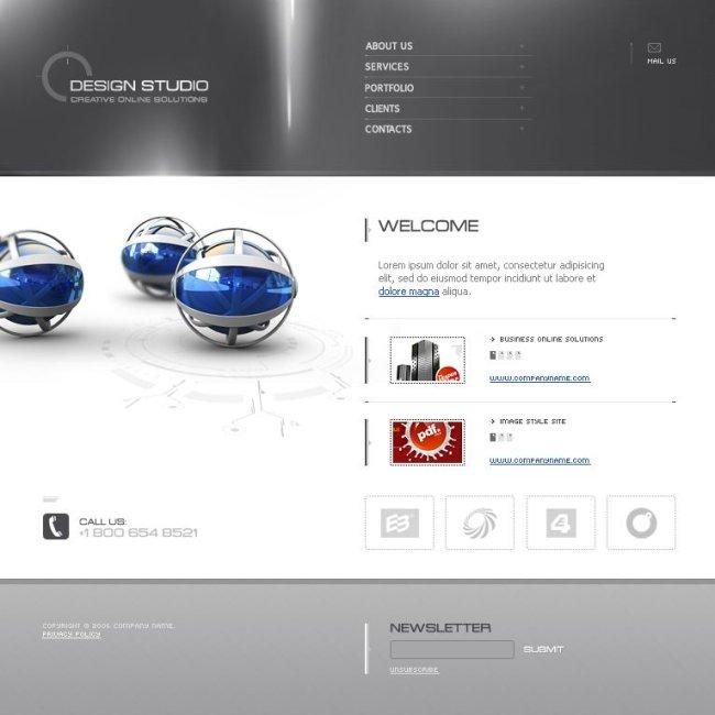 炫酷大气flash3d企业网站模板图片