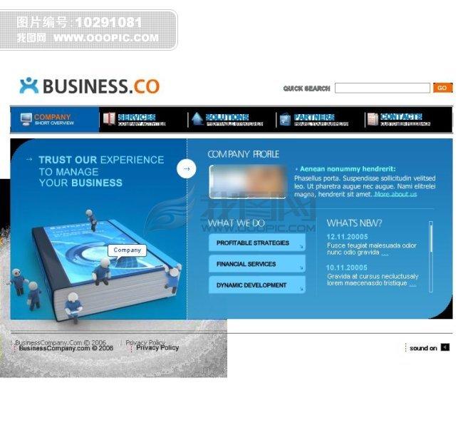 3d效果flash企业网站设计图片