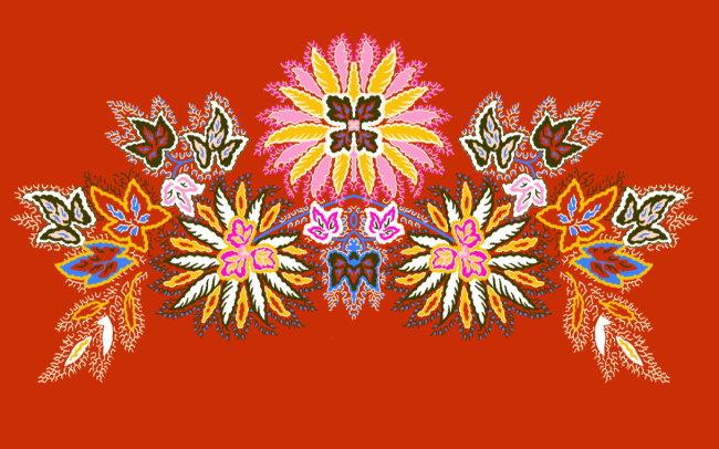 刺绣 绣花 底纹边框 花边 图形 图案 韩国花纹 边框底纹 纺织 植物