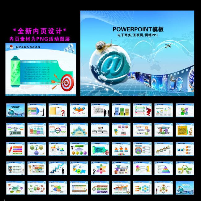 电子商务互联网商务网络贸易幻灯片ppt模板下载