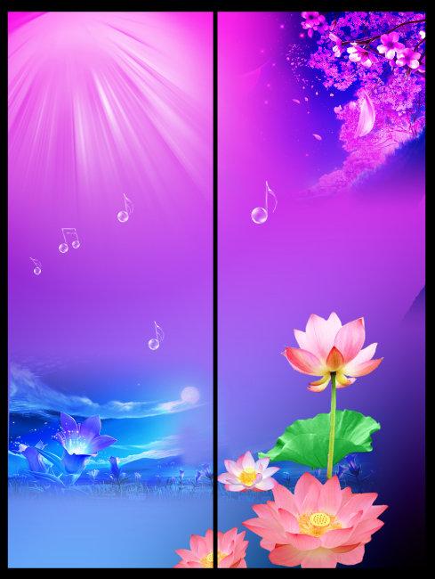 卷帘门 莲花