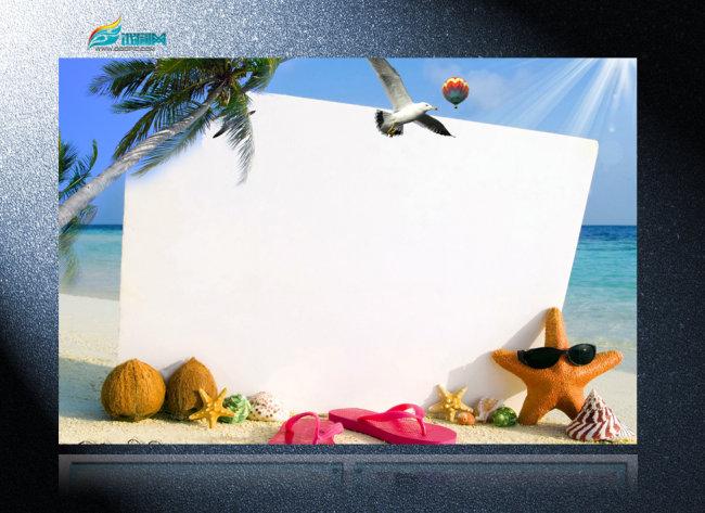 幼儿园沙滩主题展板