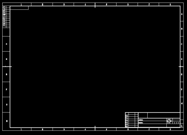 cad电气图框模板下载 cad电气图框图片下载