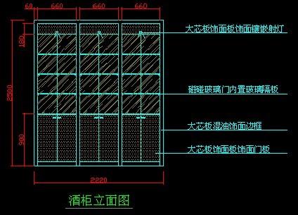 cad酒柜立面图下载_欧式酒柜立面图免费下载建筑详图、图库