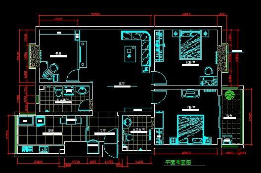 cad室内平面图模板下载