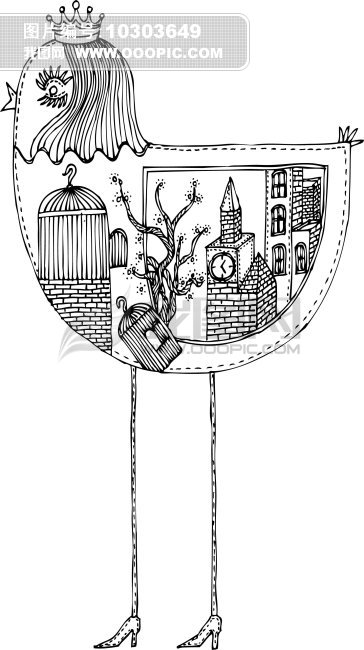 黑白插画手绘纸杯