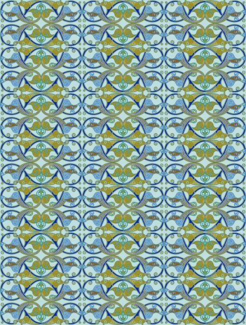 纸纹 民族花纹 陶瓷图案 矢量图