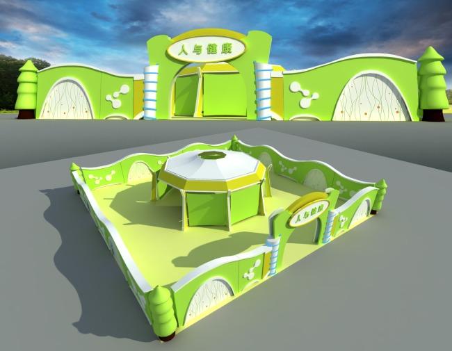 整套3d模型 室外模型