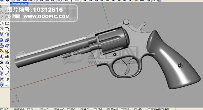 手枪建模模板下载 手枪建模图