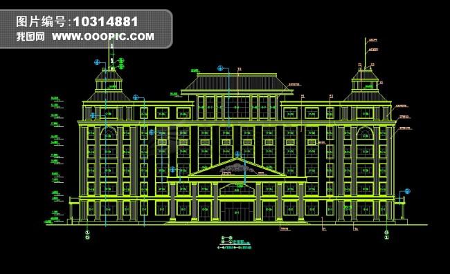 欧式建筑cad图模板下载(图片编号:10314881)