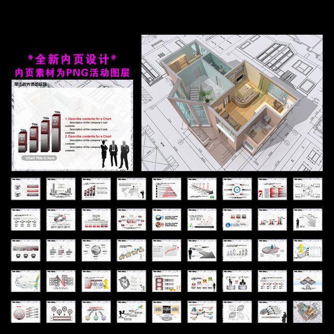 建筑裝修建材房地產公司業績報告ppt下載模板下載(:)