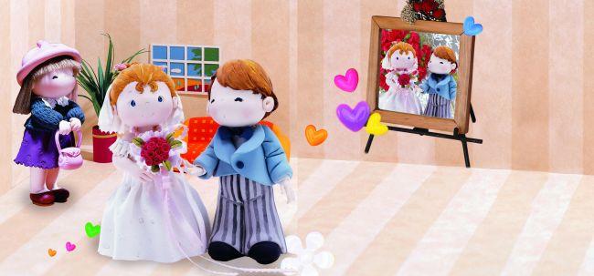 儿童动漫图片新娘