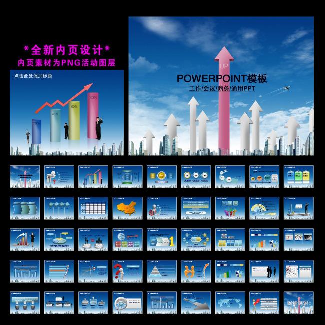 商务贸易工作会议总结ppt模板下载