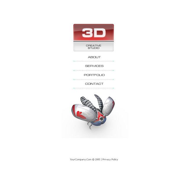 3d导航条网站模板flash全站图片