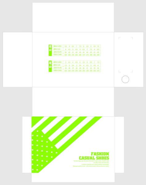 鞋盒包装创意图片下载 鞋 鞋盒设计 鞋盒包装 包装 包装盒展开图 包装