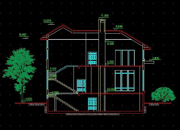 别墅设计图纸平面图