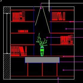CAD书柜模板下载(图片编号:10350812)_CAD