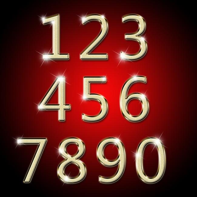 阿拉伯数字艺术字金属数字123456图片