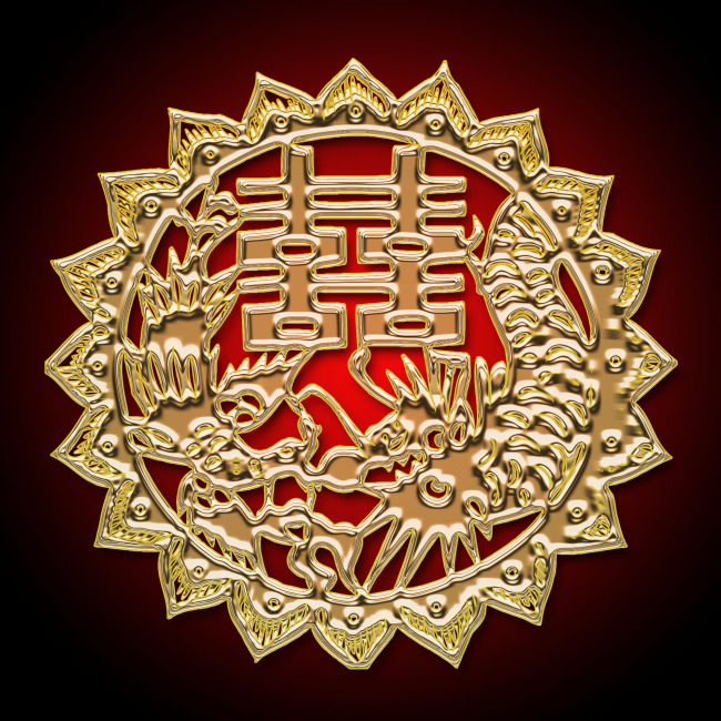 图案 纹样/中国传统图案喜字 纹样 底纹
