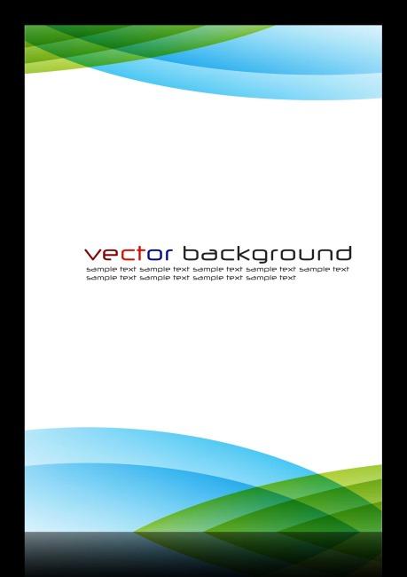炫彩动感流线商务科技海报设计模板