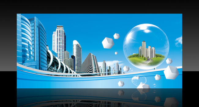 现代城市发展背景图