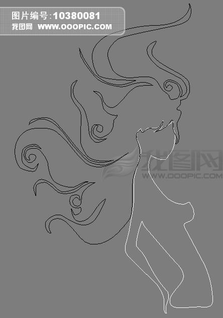 美发造型手绘图