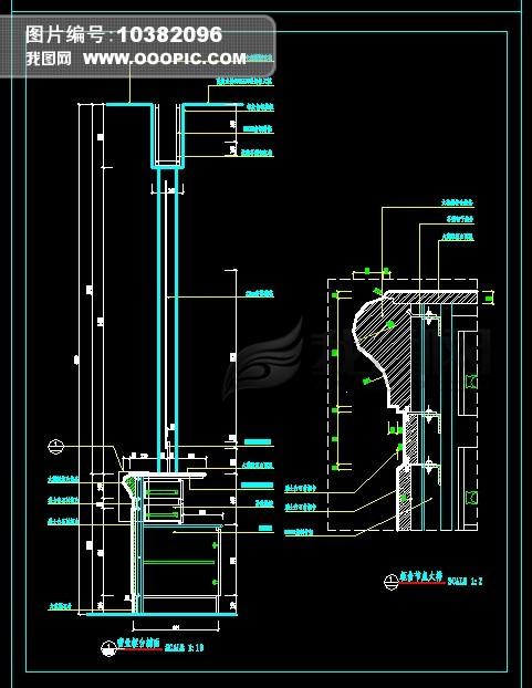 商业银行分行营业厅装修施工图模板下载(图片编号:)