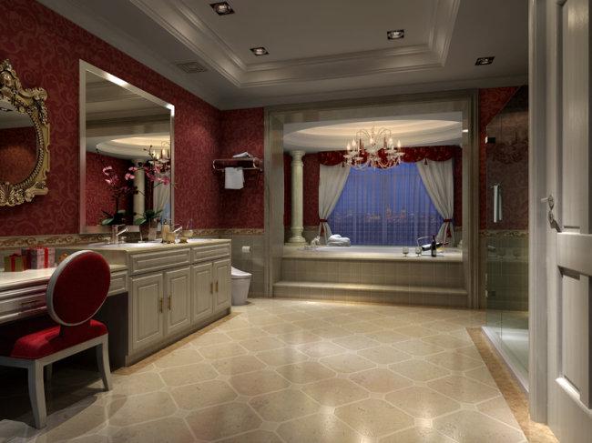 3d模型 室内设计3d模型 家装模型 > 欧式卫生间效果图  下一张&图片