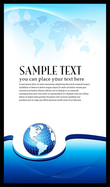 蓝色科技 展板 地球 世办地图 公司展板 展板半成品 展板背景设计图片