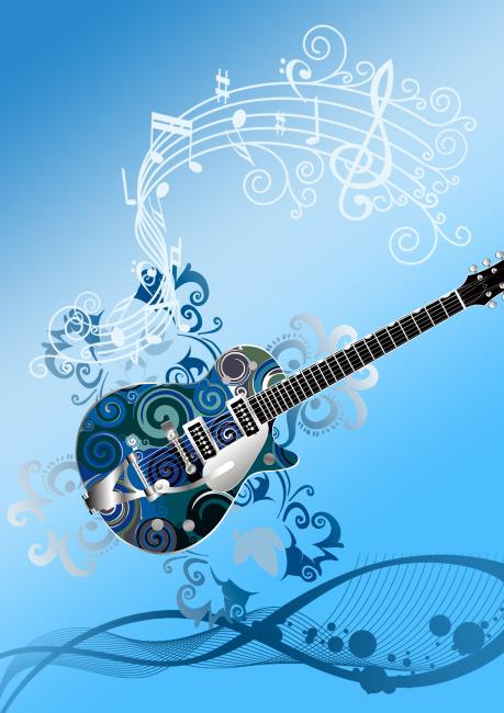 吉他 音乐符号 海报